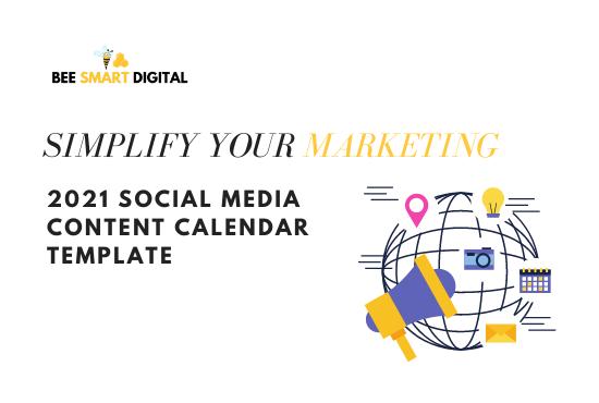 2021 Social Media Content Calendar Template Ireland